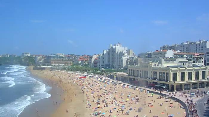 HD Live Webcam Biarritz - Grande plage