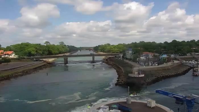 HD Live Webcam Landes - Hafen von Capbreton