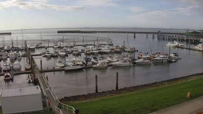 HD Live Webcam Insel Langeoog - Friesische Inseln - Sportboothafen