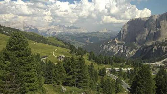 HD Live Webcam Colfosco - Grödner Joch
